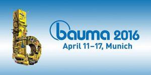 Bauma 2016 Fuarı'na katılıyoruz